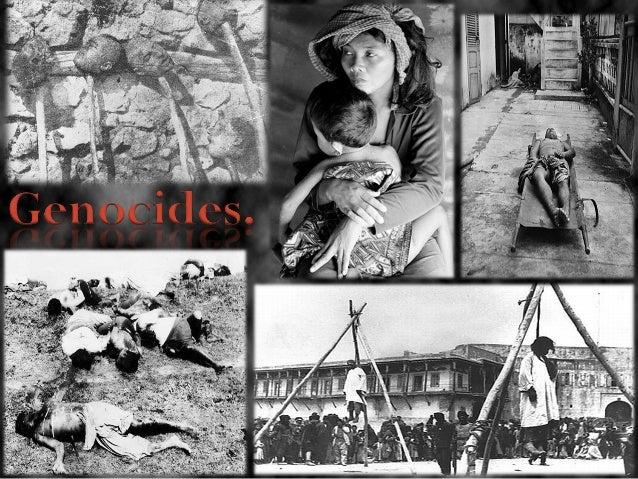 Genocide (Bosnia, Darfur, Rwanda)