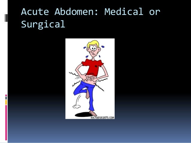 The acute abdomen seminar