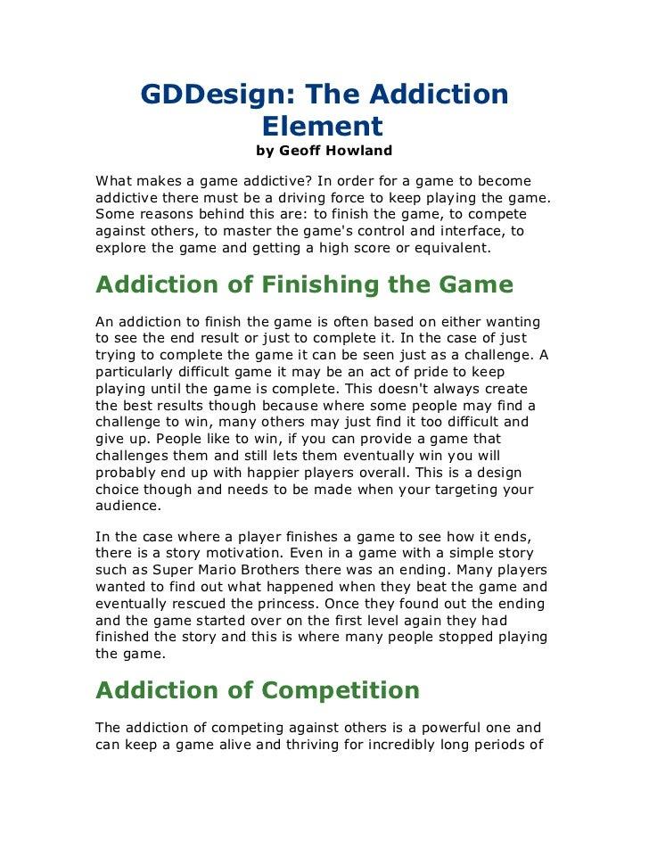 The Addiction Element
