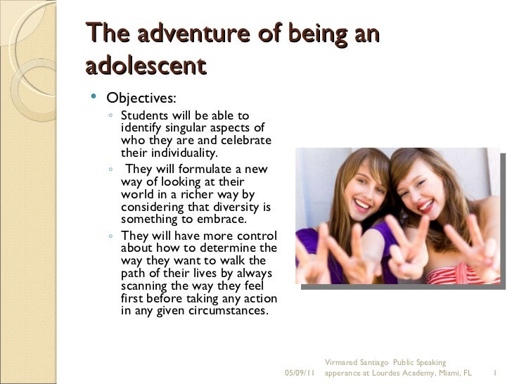 The adventure of being an adolescent
