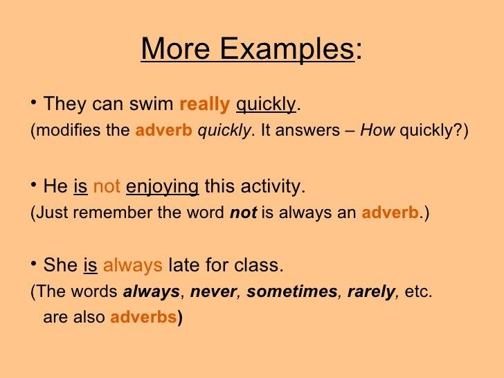 Adverb Examples Alisen Berde