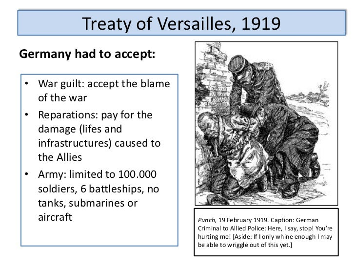 an overview of the treaty of versailles affecting the germany post world war one