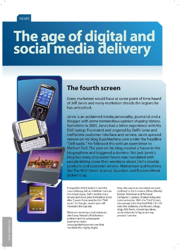The age of digital and social media delivery