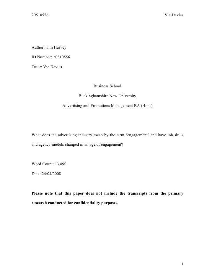 20510556                                                                 Vic Davies     Author: Tim Harvey  ID Number: 205...
