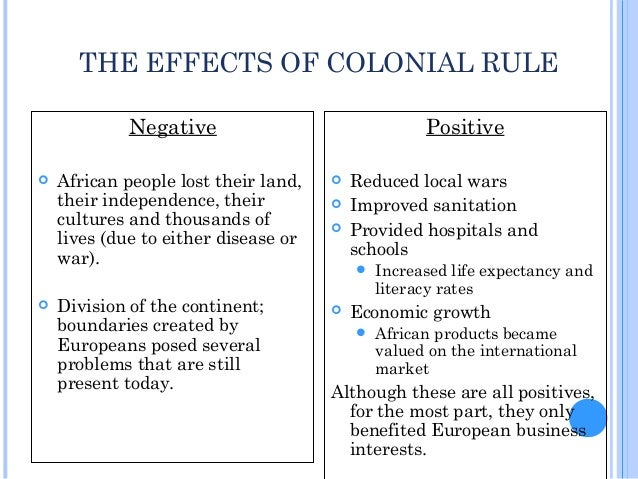 the effects of colonization in africa How did the colonization of africa shape its political and cultural geography  the lingering effects of colonization.