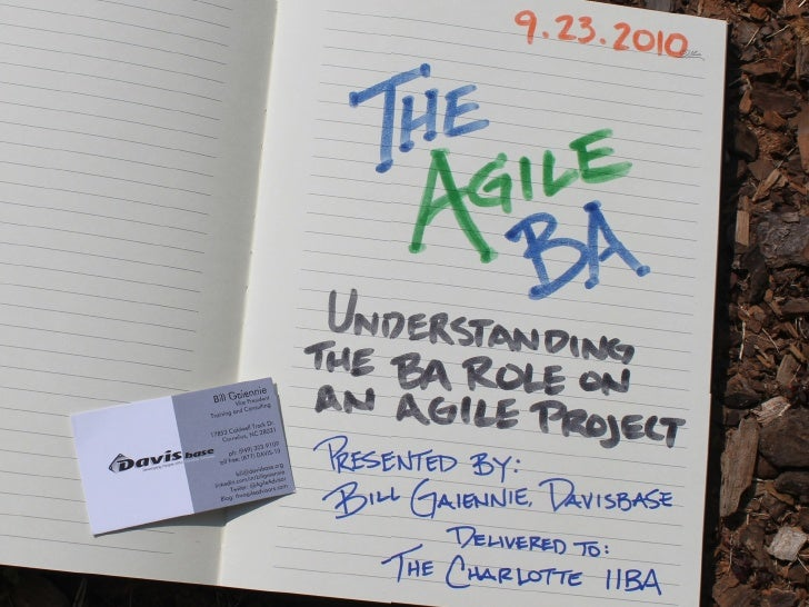 The Agile BA (Business Analyst)