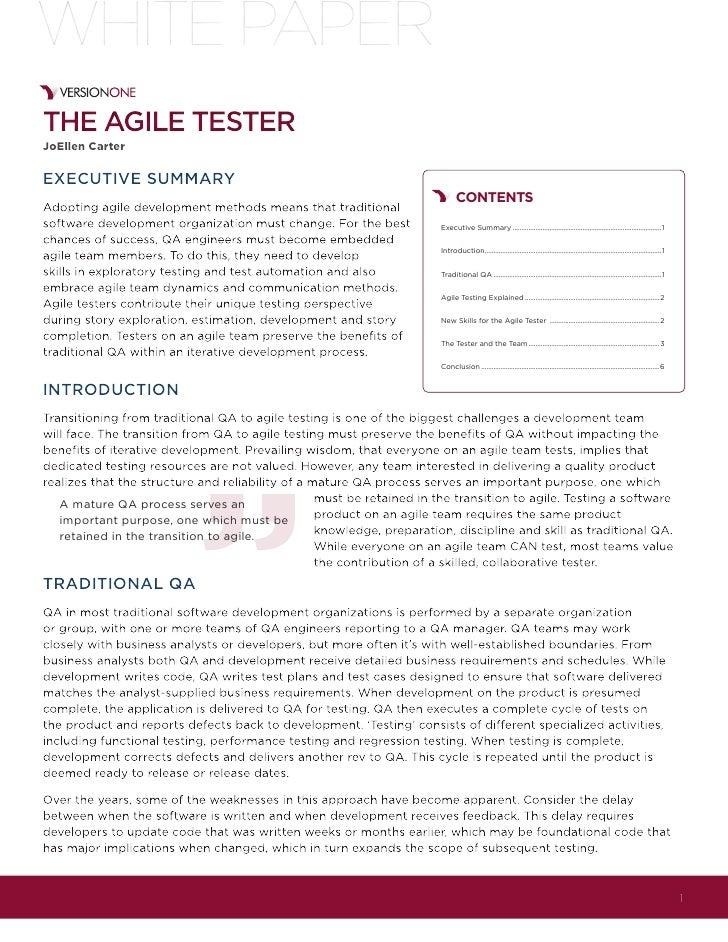 The agile tester