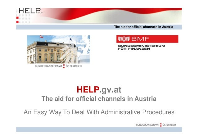The aid for official channels in austria
