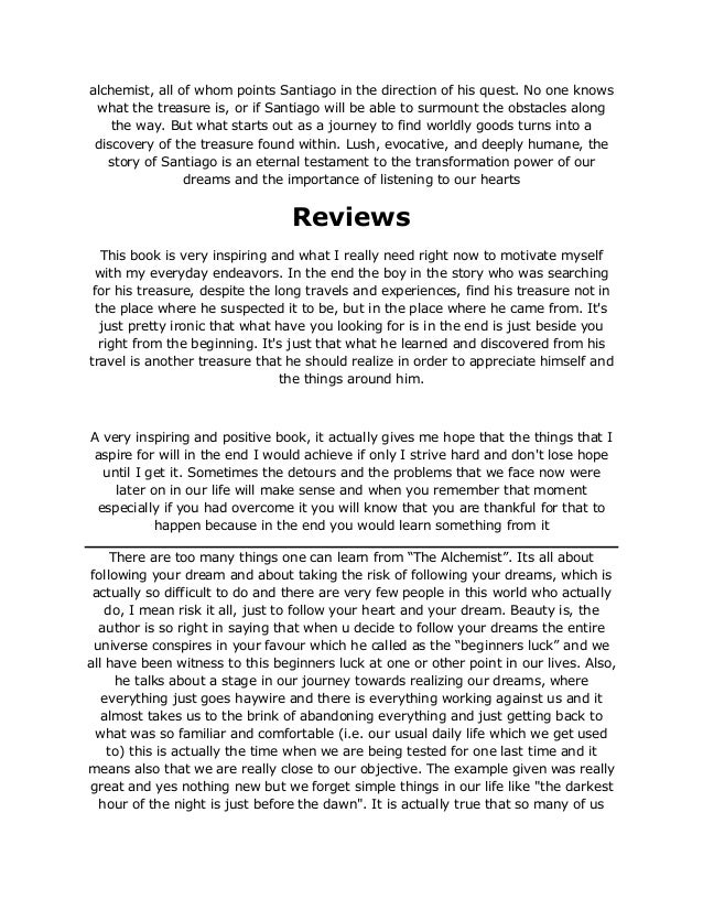 Alchemist Essay The Alchemist Essay Outline By Amber Garrett