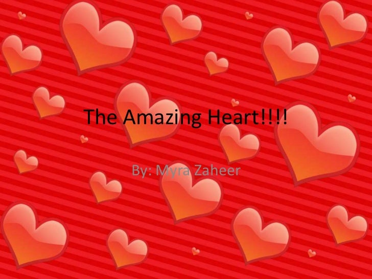 The Amazing Heart!!!!<br />By: Myra Zaheer<br />