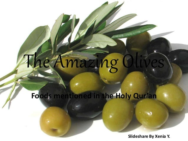 The Amazing Olives Foods mentioned in the Holy Qur'an Slideshare By Xenia Y.