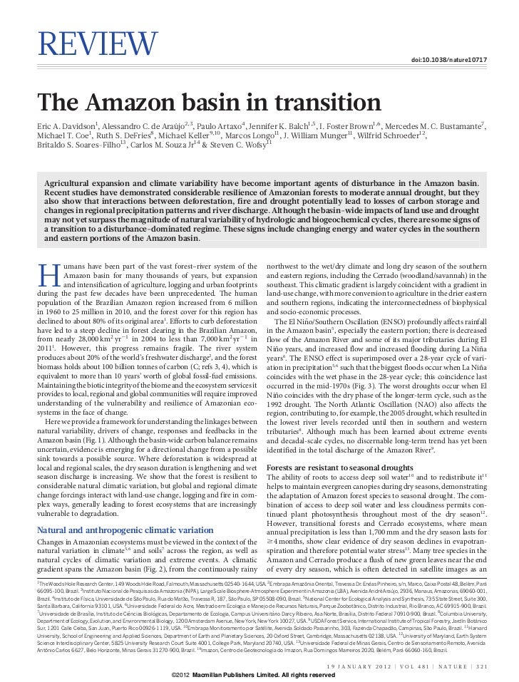 The amazon basin_in_transition