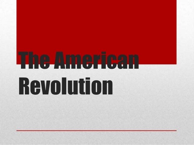 The AmericanRevolution