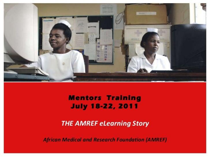 The amref story mentors training po