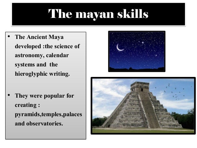 mayan astronomy Maya civilization is mysterious and fascinating, and probably the least familiar of the great civilizations of the ancient world this part of cybertower introduces the ancient maya, puts them in the context of the larger cultural tradition of ancient mesoamerica, and provides a point of entry to the sometimes daunting array of more detailed.