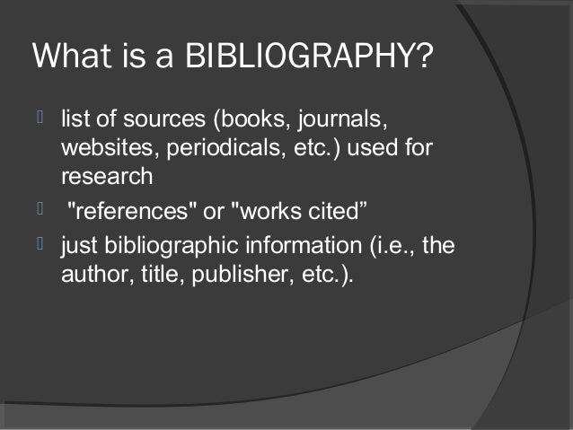 What Is A Bibliography At The End Of An Essay
