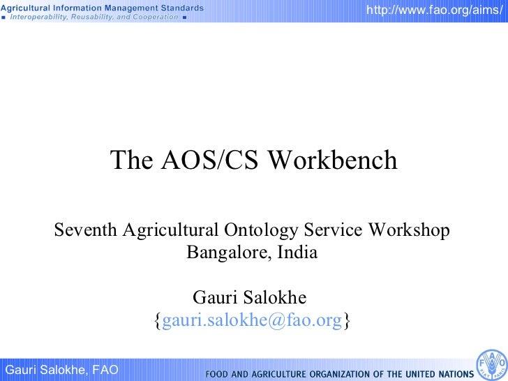 The aos cs workbench