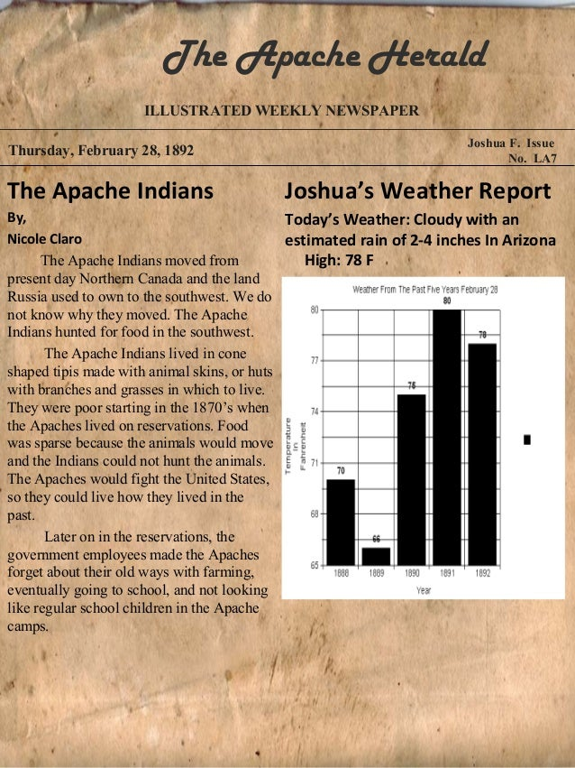 The Apache Herald                    ILLUSTRATED WEEKLY NEWSPAPER                                                         ...