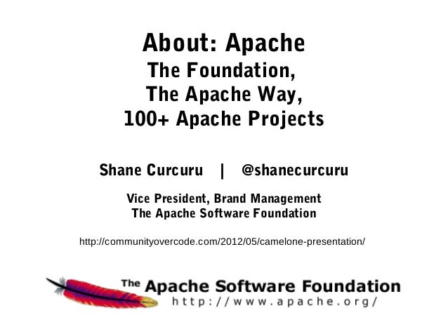 About: Apache           The Foundation,           The Apache Way,         100+ Apache Projects   Shane Curcuru            ...