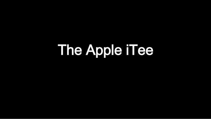 The Apple iTee<br />