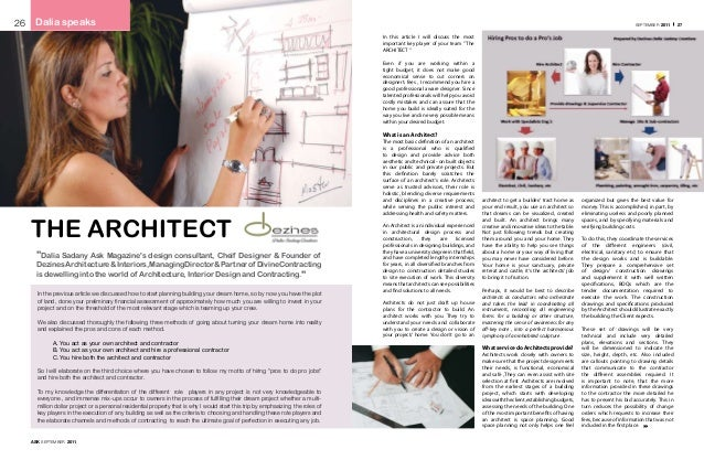 About the Architect