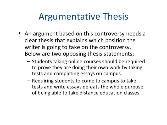What Is An Argumentative Thesis Statement