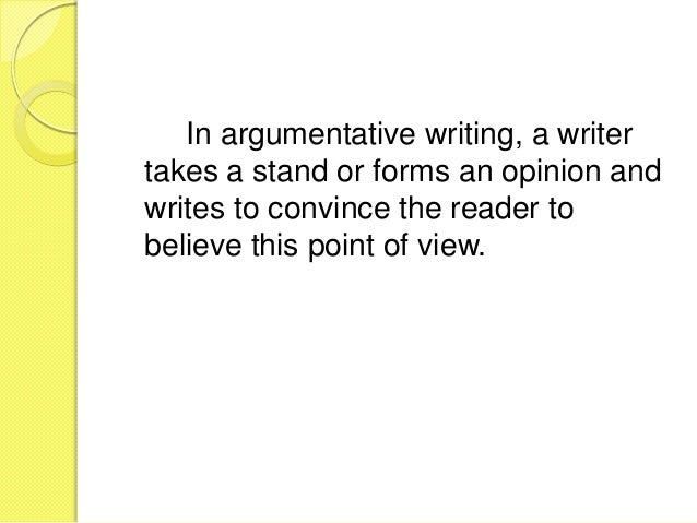 Argumentative essay helper