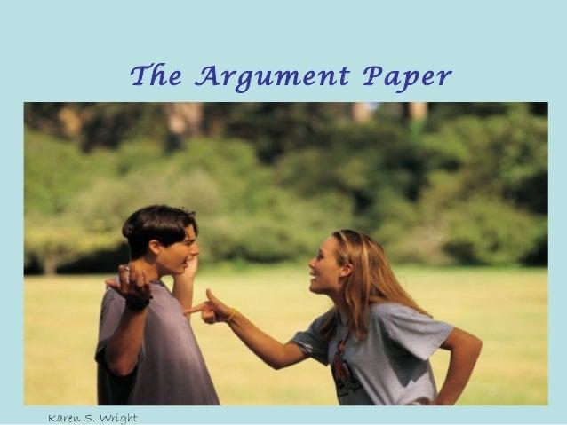 The argument paper 2013