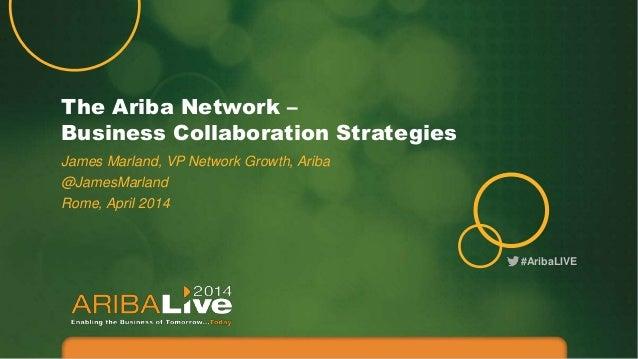 The Ariba Network – Business Collaboration Strategies