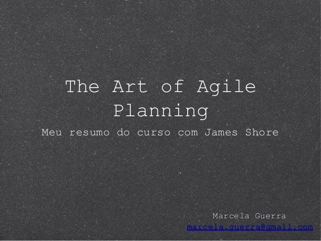 Resumo - The Art of Agile Planning