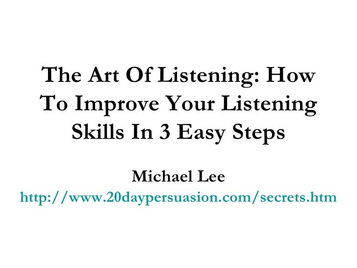 how to improve listening skills at work