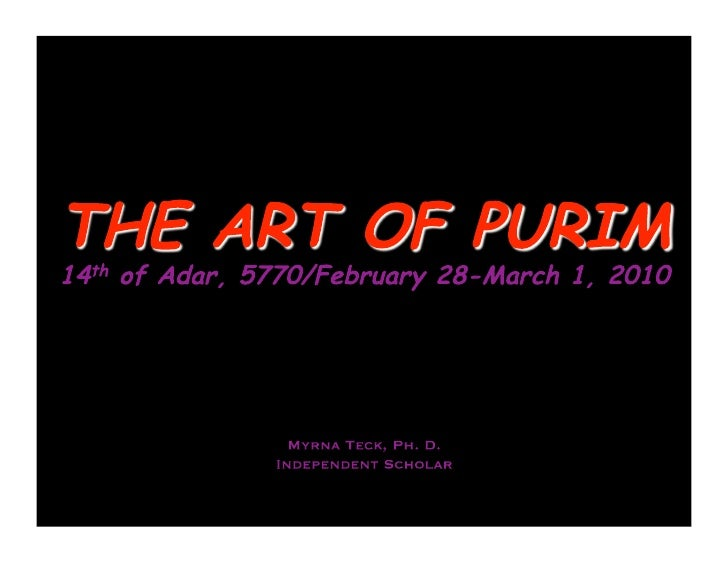 The Artof Purim2010