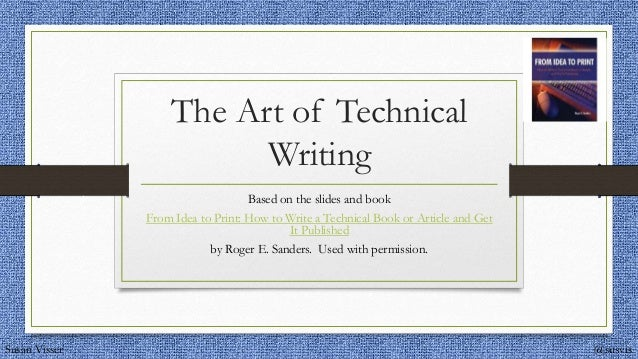 Technical article writing