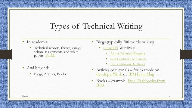 Technical Writing Assignments