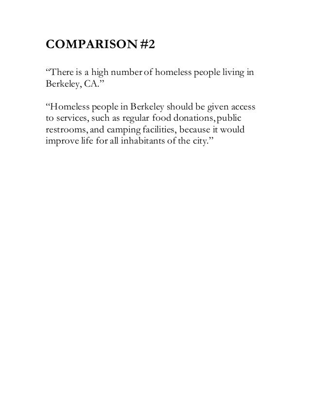 homelessness thesis statement The challenge that homeless people face - thesis/intro homelessness is a growing epidemic across the country over 2 million people are homeless in america, and that number is increasing 40% are families with kids, 30% are drug and/or alcohol addicts, 23% are mentally ill and 10% are veterans (triplett, 2004, para.
