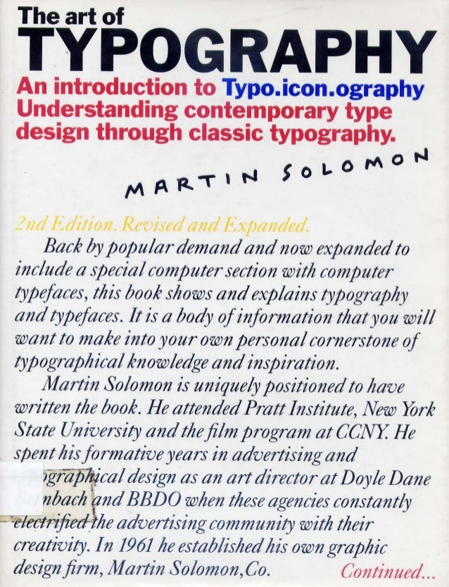 The Art of Typography by Martin Solomon