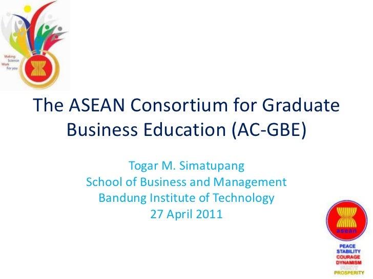 The asean consortium for graduate business education