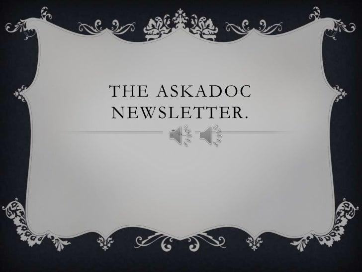 The askadoc newsletter