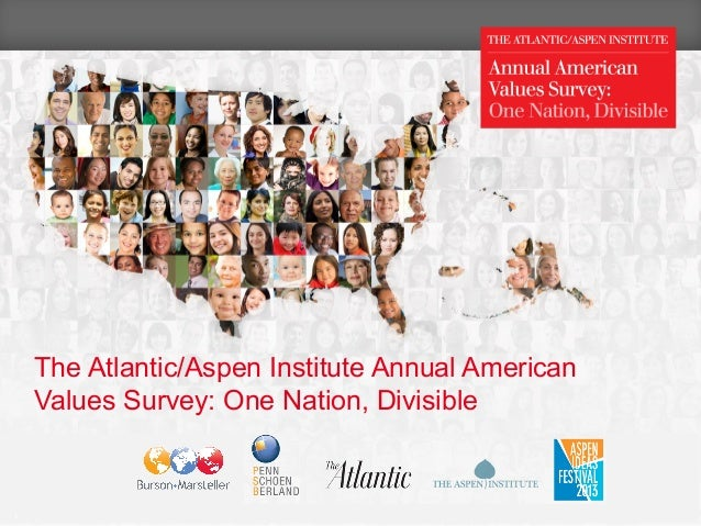 The 2013 Atlantic/Aspen Institute Annual American Values Survey: One Nation, Divisible