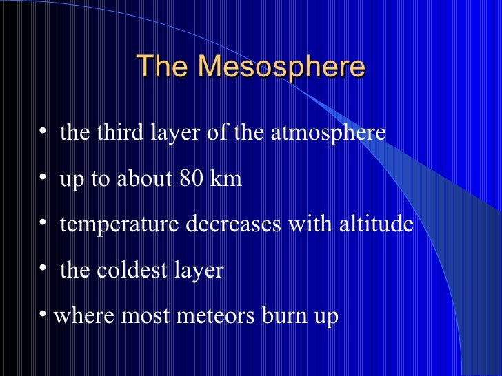The Mesosphere - overview | UCAR Center for Science Education