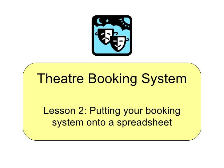 Theatre Booking System - Lesson 2