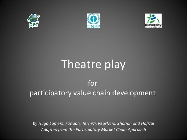 Theatre play for participatory value chain development