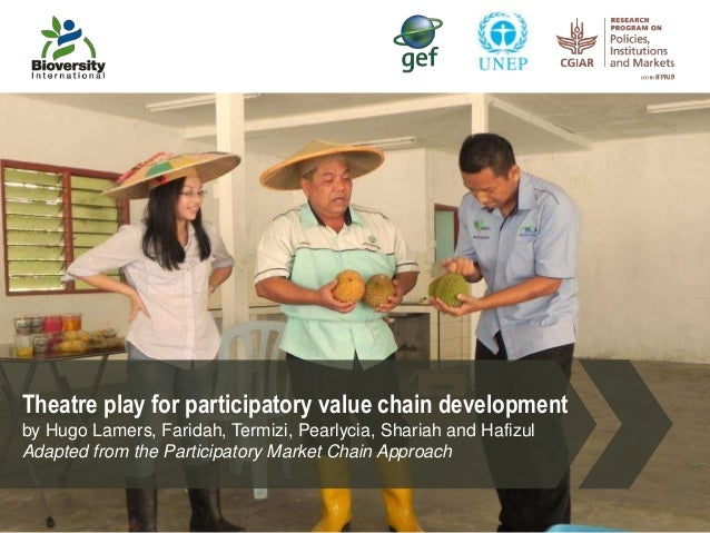 Theatre play for participatory value chain development