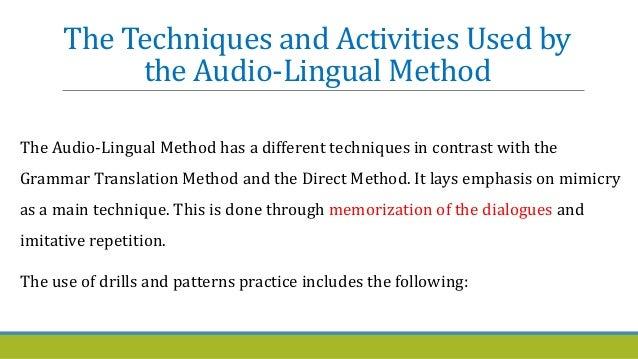 Grammar Translation Method vs. Direct Method