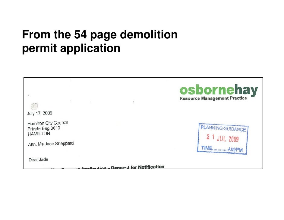 From the 54 page demolition permit application