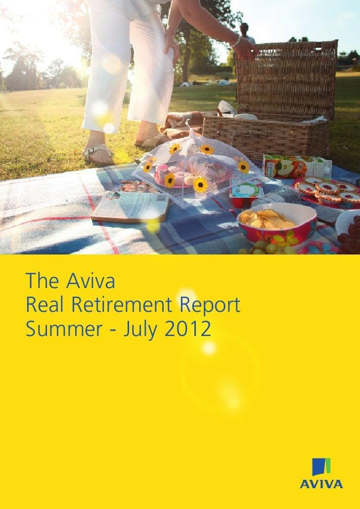 The AvivaReal Retirement ReportSummer - July 2012