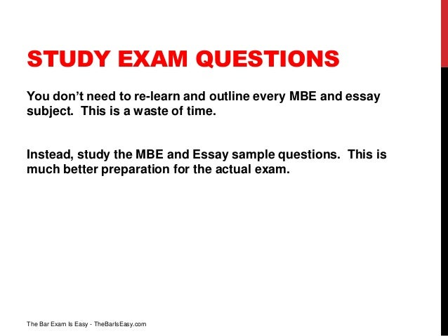 bar exam no essay