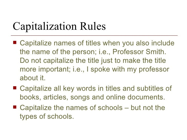 Do you capitalize colleges in an essay