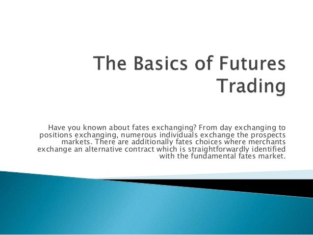 Future & options trading basics pdf