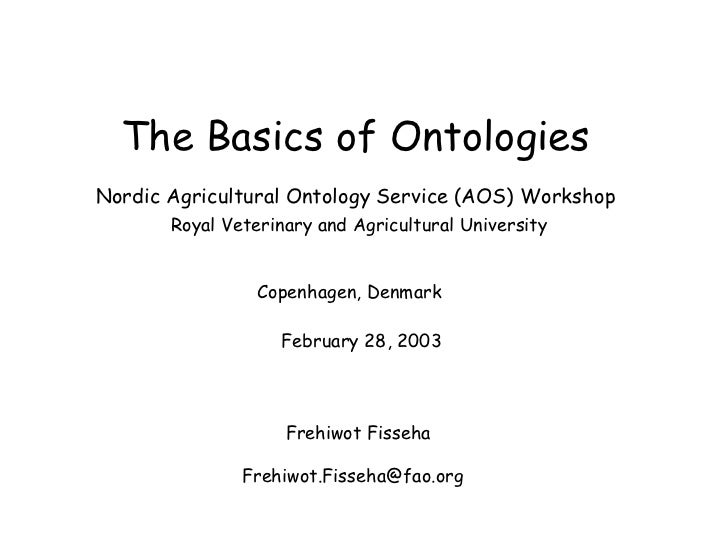 The basics of ontologies